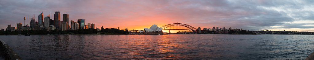 Sydney Harbour Sunset Panorama