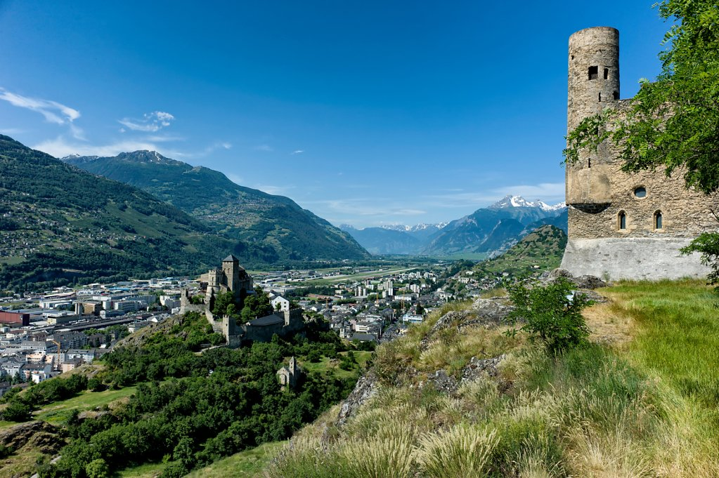Valère Basilica and Tourbillon Castle, Sion, Switzerland
